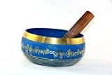 """'15cm méditation tibétaine """"Om Mani Padme Hum paix bol chantant avec maillet"""