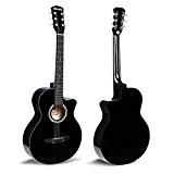 2-GUITARE CLASSIQUE acoustique Noir Taille 3/496,5cm d'apprentissage pour les débutants adultes garçons filles étudiants 6cordes Guitare Kit Cadeau d'anniversaire de ...
