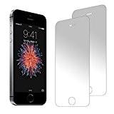 2 Pack Protecteur d'écran zenmo de qualité supérieure, en verre trempé pour iPhone se/5s/5c/5 (4,7 pouces)