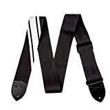 Accessoires guitares FENDER COMPETITION NOIR ET ARGENT Sangles et courroies