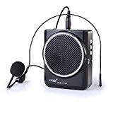 AKER MR1700 Amplificateur voix portable / haut parleur avec micro casque + pile lithium 2000mAh pr les guides, les enseignants, ...