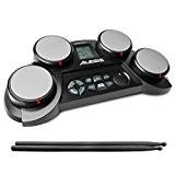 Alesis CompactKit 4 |Batterie Electronique Portable avec 4 Pads Sensibles + 70 sons de Percussion Inclus