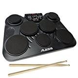 Alesis CompactKit 7 | Batterie Electronique Portable avec 7 Pads et 2 Pédales + 265 sons de Percussion Inclus
