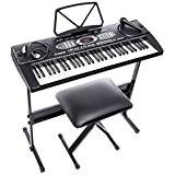 Alesis Melody 61   Piano Numérique 61 Touches Portable avec Haut-Parleurs Intégrés et 200 Sons - Inclus Microphone, Casque ...