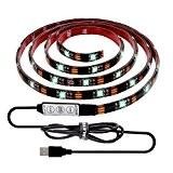 ALOTOA Éclairage de Bias pour la TVHD 150cm 5v USB Powered étanche LED Light Strip, Multi Color RGB LED TV ...