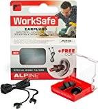 Alpine WorkSafe 2015 Protection d'Oreilles pour Travail + Gratuit Cord
