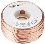 AmazonBasics Câble audio pour haut-parleur Calibre 16 Section 1,3 mm² Longueur 30 m