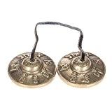ammoon 2.6in/6.5cm fait à la main la méditation tibétaine Tingsha cymbales de Bell avec bouddhiste symbole de la chance