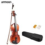 ammoon 4/4 Plein Surface en bois massif Antique Violon Fiddle Matte Finish Spruce Conseil Visage avec Hard Case Bow Rosin