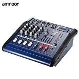 ammoon 4 Canaux Numérique Mic Ligne Audio de Mixage Console d'alimentation Amplificateur Mélangeur avec 48V Phantom 16 Built-in Son Effects ...