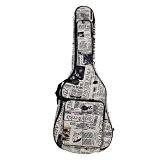 ammoon 600D Étanche Tissu Oxford Journal style Double Stitched rembourrées sangles Gig Sac Guitare Étui pour 40 Pouces Guitare Folk ...
