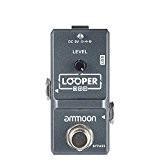 ammoon AP-09 Nano guitare électrique effet pédale Looper True Bypass illimité Overdubs 10 Minutes enregistrement en boucle avec câble USB