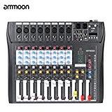 ammoon CT80S-USB 8 Canaux Mic Ligne Numérique de Mixage Audio Mixer Console avec 48V Phantom Puissance pour l'enregistrement DJ scène ...