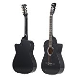 ammoon pour les débutants 96,5cm pour guitare acoustique 6cordes noir