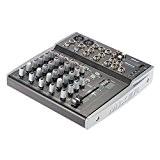 ammoon Professional 8 canaux EQ 3-bandes Audio Music Mixer mixage XLR USB Ligne entrée 48V Alimentation Fantôme pour Enregistrer la ...