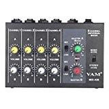ammoon Ultra-compact Bas Bruits 8 Canaux Métal Mono Stéréo Audio Mixage avec Câble d'alimentation Adaptateur