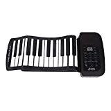 Amorus® Piano numérique roulant 61 touches Silicon pour les débutants et les enfants