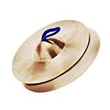 Andoer 15cm / 5.9in Mini Cuivre Cymbales Main Gong Band Rhythm Beats Percussion Musical Instrument Jouet pour Petit Enfants
