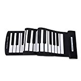 Andoer Portable 61 Touches Flexible Roll-Up Piano Clavier USB MIDI électronique Antiroulis Main Roulé Piano