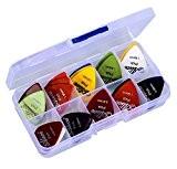 Astropick - Boîte de 40 médiators pour guitare électrique, acoustique, basse, ou folk - 6 épaisseurs : 0.58/0.71/0.81/0.96/1.20 et 1.50 ...