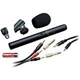 Audio-Technica ATR6250 Microphone à électret stéréo Noir