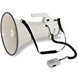 auna Mégaphone professionnel (pour événements sportifs, manifestations, fêtes, cinéma, puissance 160W, portée 2400m, fonction sirène, piles protégées contre les intempéries)