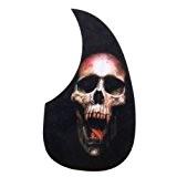 Autocollant Marqueur PVC Adhésif Stickers Plaque Protection Pour Guitare Motif Crâne