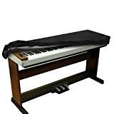 BALFER Housse antidérapante en teck de velours extensible pour clavier 88 touches (noir)