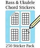 Basse, ukulélé, mandoline et Chord & Tablature de doigté 250 Stickers lots au moment de Passer la commande