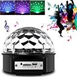 Besmall RGB LED USB Mp3 boule disco lumière avec télécommande pour les vacances projecteur d'éclairage Sticker DJ Disco salle de ...