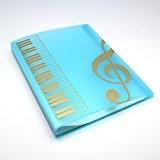 Bestsounds Partition de musique dossier de documents papier Taille A440poches de rangement en plastique fichier bleu