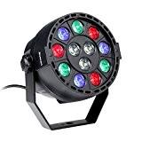 Blusmart 12W 12 LED GRB DMX 512 Eclairage pour Scène de Soirée Disco avec capteur automatique de musique et poignée ...