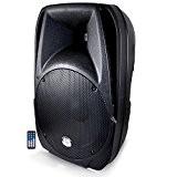 BM Sonic Wave Enceinte ABS Active 700 W Boomer 31 cm avec Télécommande USB/SD/Bluetooth Noir