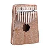 bqlzr 10clés en bois Kalimba mbira pouce Piano Instrument de musique traditionnel
