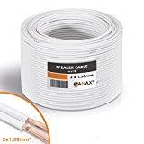 Câble pour haut-parleur 2x 1,5mm² 30m - white