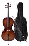 Classic Cantabile 00023276 Set de Violoncelle pour étudiant 3/4 + Archet + Poche + Colophane