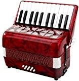 Classic Cantabile 00031496 Secono Accordéon pour Enfant 8 basses Rouge