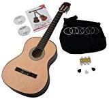 Classic Cantabile AS-851Guitare de concert 4/4Kit de démarrage (complet débutant avec guitare classique, Housse étui, cordes en nylon, lehrbuch/école CD ...