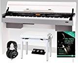 Classic Cantabile CP-A 320 WM piano numérique blanc mat SET, y compris la banquette et le casque