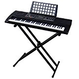 Clavier DynaSun MK906 USB MIDI LCD 61 Touches E-Piano Keyboard Fonction Enseignement Intelligent avec Support Stand