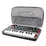 co2CREA Voyage Stockage Porter Étui Housse pour AKAI Pro MPK Mini MkII Clavier Maître MIDI/USB 25 Touches Sensibles à la ...