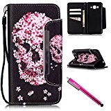 Coque Galaxy Grand Prime G530 G530 G530H G5308, Firefish [Slots pour carte] [Kickstand] Flip Folio Wallet Case Cuir synthétique Shell ...