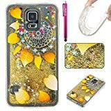 Coque Galaxy S5, Glitter Liquide TPU Etui, Firefish Bling Glitter Bumper Souple Gel Silicone Sparkle Quicksands Housse Cristal Clair Coque ...