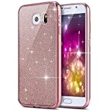 Coque Housse Etui pour Samsung Galaxy S7, Galaxy S7 Or Rose Coque en Silicone Placage Coque Clair Ultra-Mince Etui Housse ...