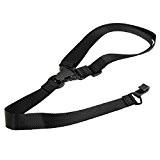 Corde universel en corde en coton durable sangle en nylon réglable Crochet ceinture de cou pour ukulélé électrique noir