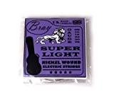 Cordes BRAY en nickel, enroulées & extra légères pour guitares électriques (Tirant: 08 - 38) Yamaha EG112GPIIH, Ibanez GAX30-BKN & ...
