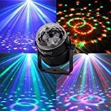CroLED® Lampe de Scène Lampe Disco Lumière Soirée Mini Projecteur Spot Ampoule 3LED RGB RVB AC100-240V Lampe Soirée DJ KTV