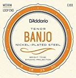D'Addario EJ63 Cordes pour Banjo Light Tenor 09-30
