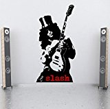 Designdivil Wall Decals Autocollant mural en vinyle représentant Gibson, le guitariste des Guns N 'Roses