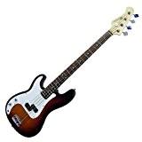 Dimavery 059262 PB-320 Guitare basse électrique Gaucher Sunburst